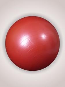 Фитбол (диаметр 65 см) с насосом красный