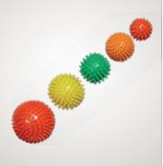 Мяч для массажа (диаметр 9 см) красный