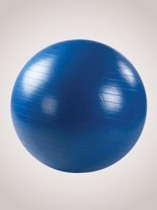 Фитбол (диаметр 75 см) с насосом синий