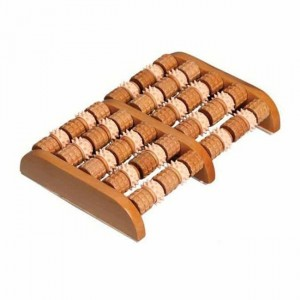 Деревянный массажер cчеты зубчатые для ног